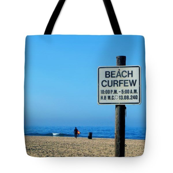 Beach Curfew Tote Bag