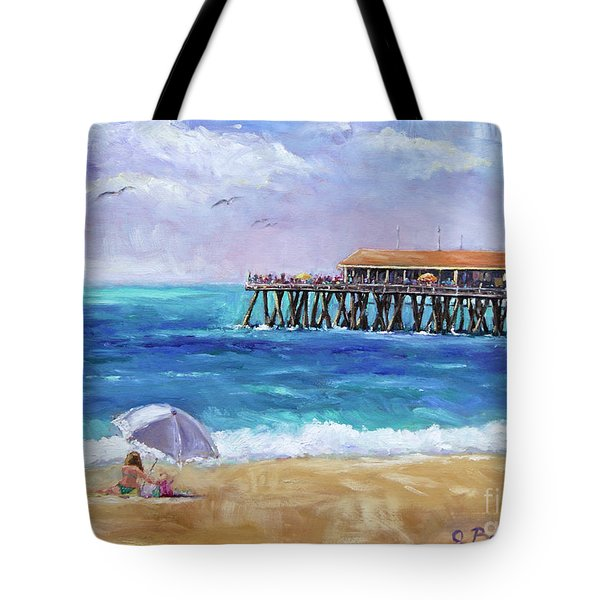Tote Bag featuring the painting Beach Day by Jennifer Beaudet