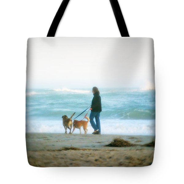 Tote Bag featuring the photograph Beach Dogs by Phil Mancuso