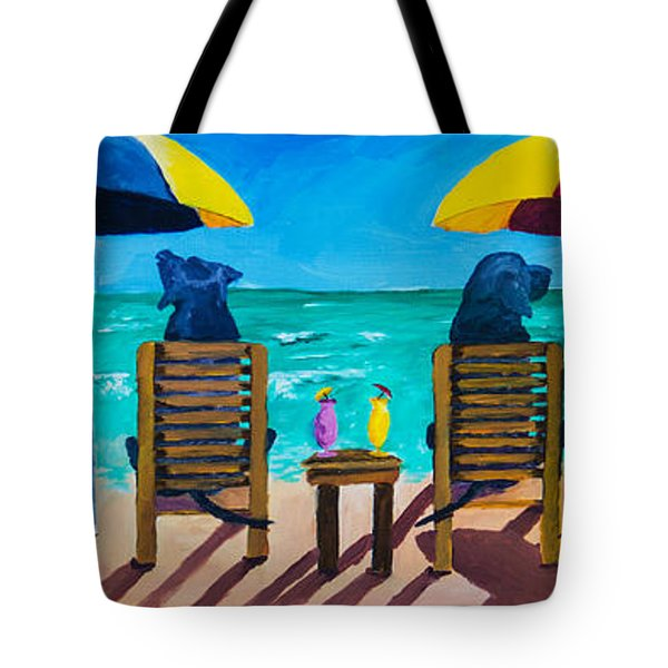 Beach Dogs Tote Bag by Roger Wedegis