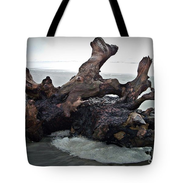 Beach Driftwood In Color Tote Bag