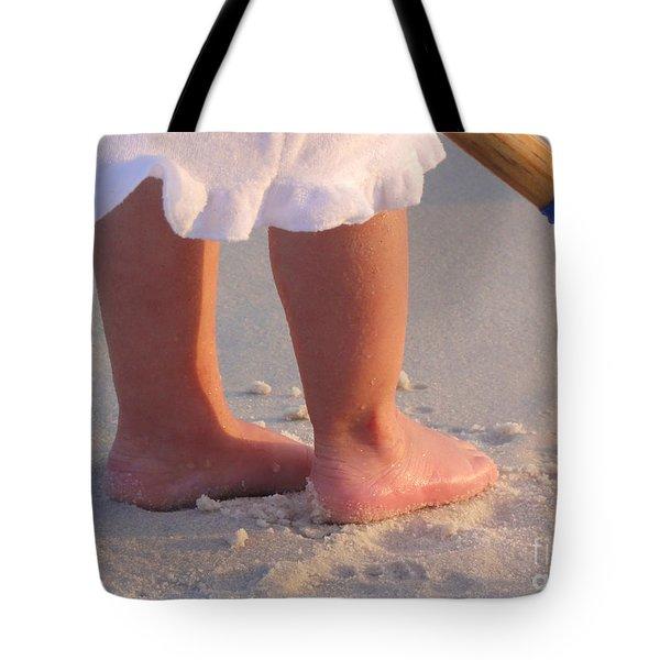 Tote Bag featuring the photograph Beach Feet  by Nava Thompson