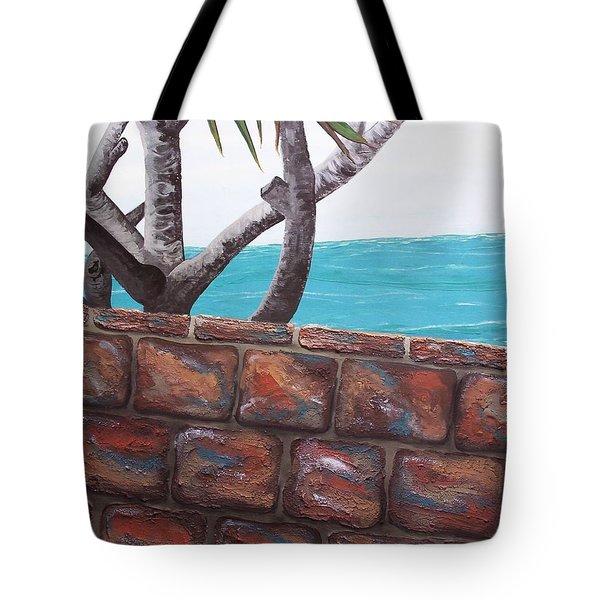 Beach Fence Tote Bag