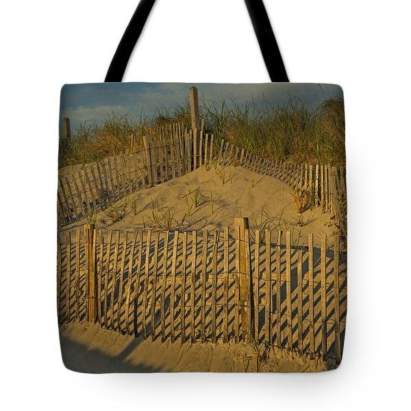 Beach Fence Tote Bag by Susan Candelario