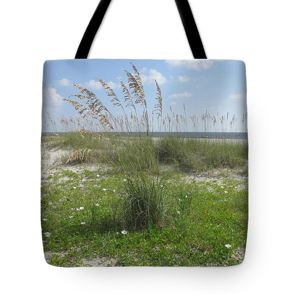 Beach Flowers And Oats 2 Tote Bag