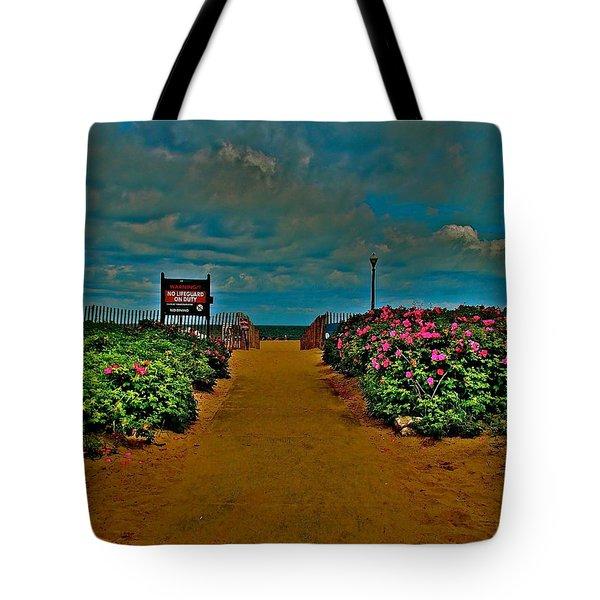 Beach Flowers Tote Bag by Joe  Burns