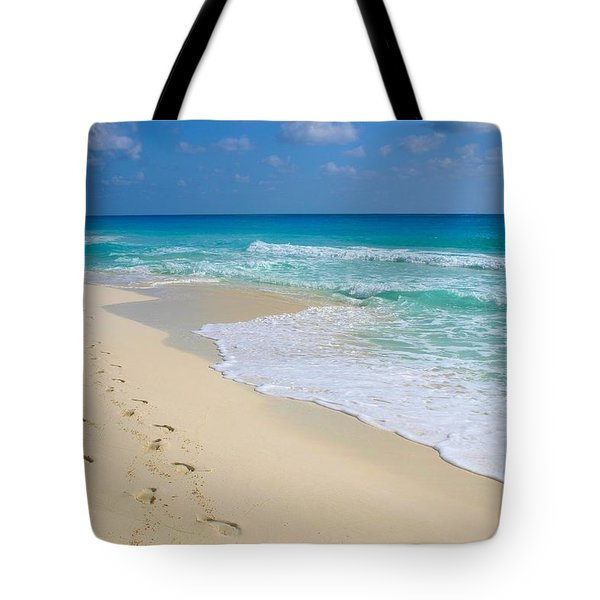Beach Footprints Tote Bag