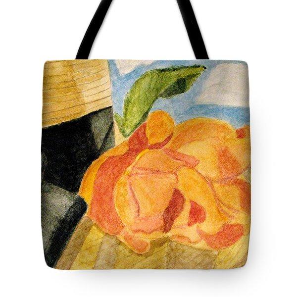 Beach Hat Tote Bag by Angela Davies