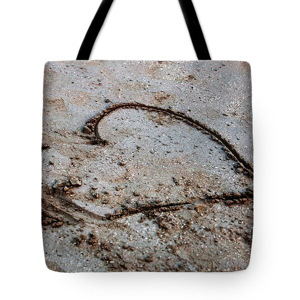 Beach Heart Tote Bag by John Rizzuto