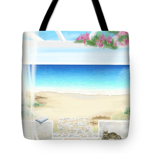 Beach House Tote Bag by Veronica Minozzi