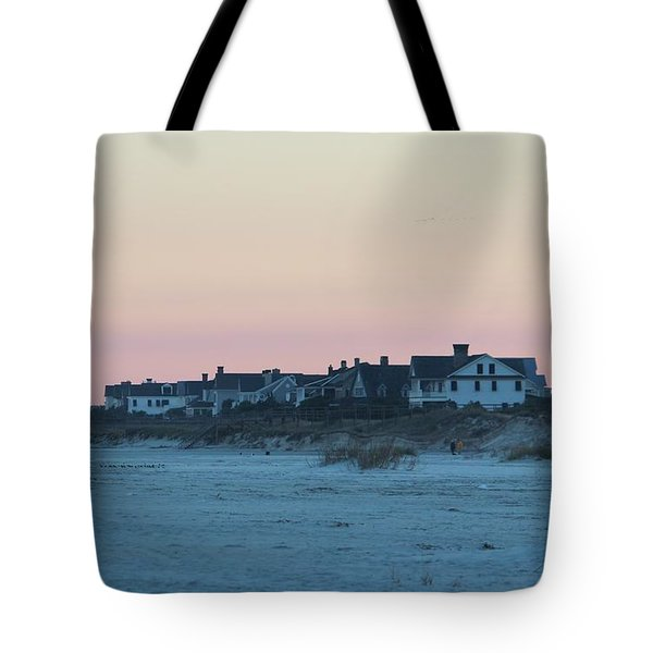 Beach Houses Tote Bag by Cynthia Guinn