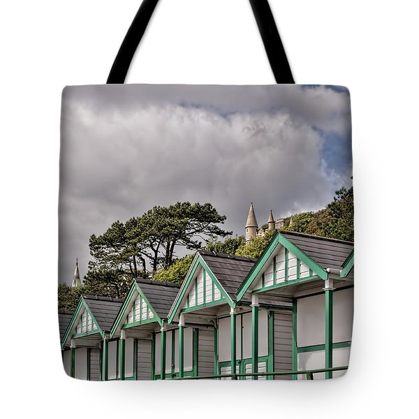 Beach Huts Langland Bay Swansea 3 Tote Bag