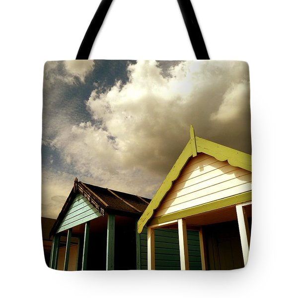 Tote Bag featuring the photograph Beach Huts by Vicki Spindler