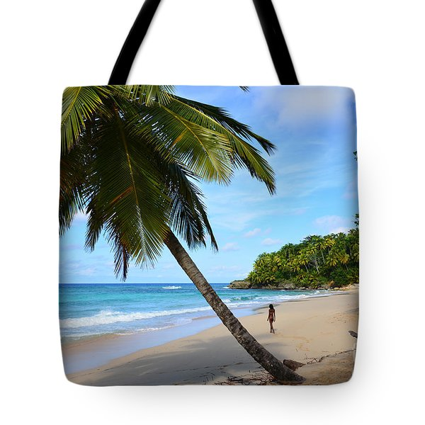 Beach In Dominican Republic Tote Bag
