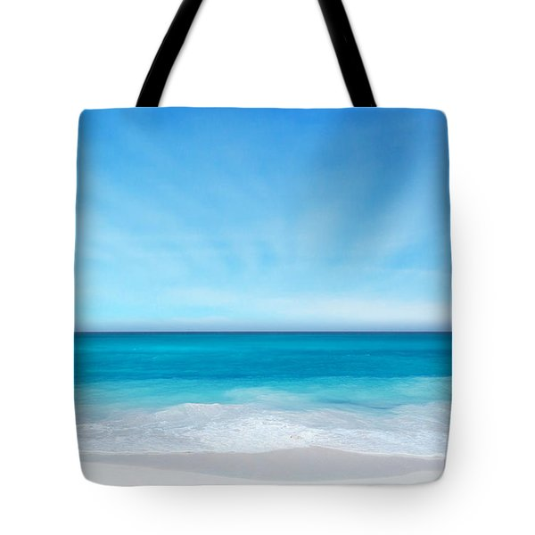 Beach In The Morning Tote Bag by Nina Bradica