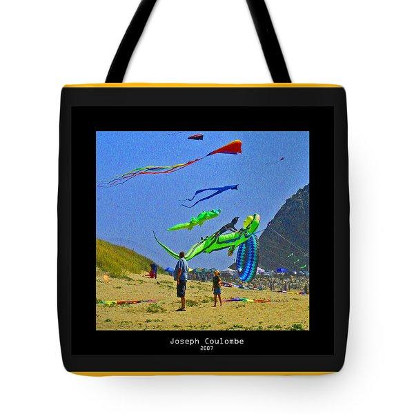 Beach Kids 4 Kites Tote Bag