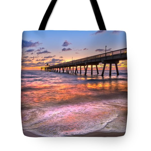 Beach Lace Tote Bag by Debra and Dave Vanderlaan
