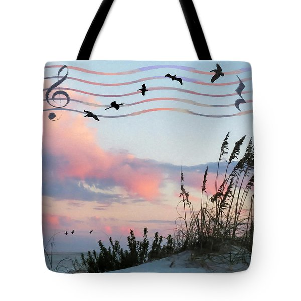 Beach Music Tote Bag