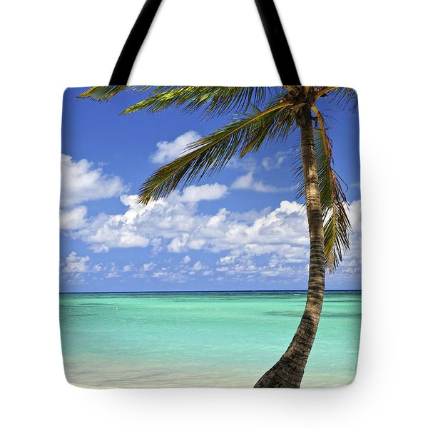 Beach Of A Tropical Island Tote Bag