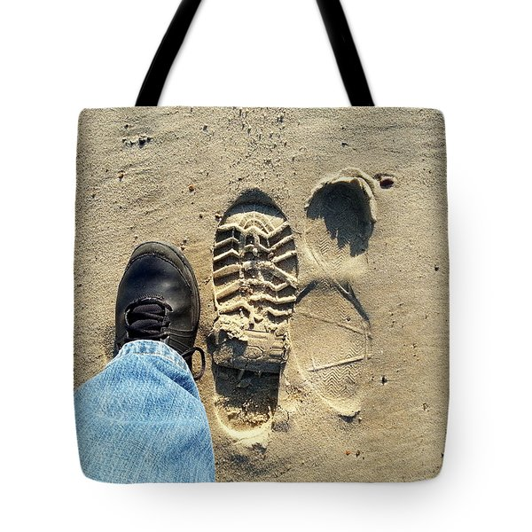 Beach Of Big Feet Tote Bag