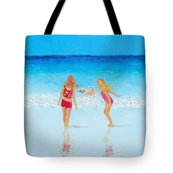 Beach Painting Beach Play Tote Bag