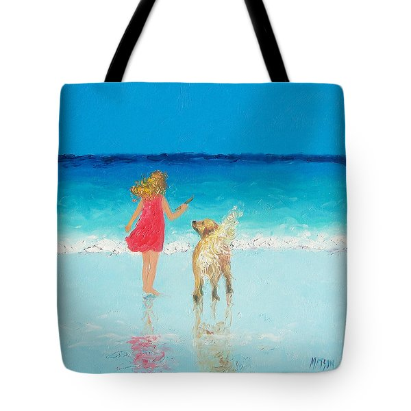Beach Painting 'sunkissed Hair'  Tote Bag