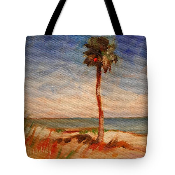 Beach Palm Tree Tote Bag