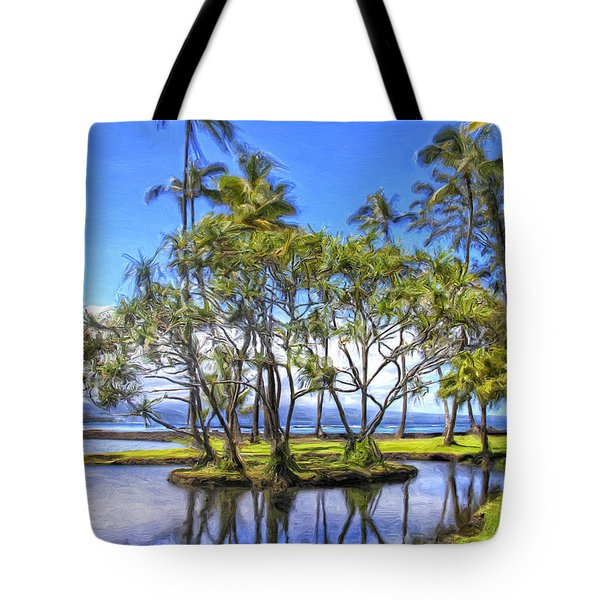 Beach Park On Hilo Bay Tote Bag
