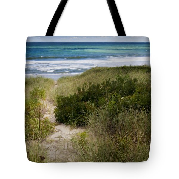 Beach Path Tote Bag by Bill Wakeley