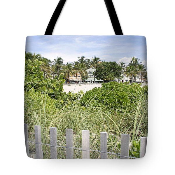 Tote Bag featuring the photograph Beach Path by Laurie Perry