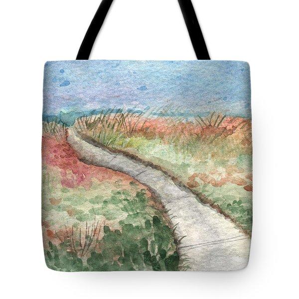 Beach Path Tote Bag by Linda Woods
