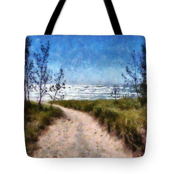 Beach Path Tote Bag by Michelle Calkins