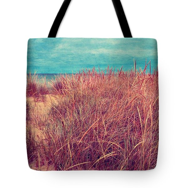 Beach Path Through The Grasses Tote Bag