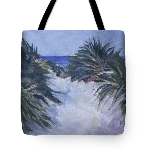 Beach Pathway Tote Bag by Mary Hubley