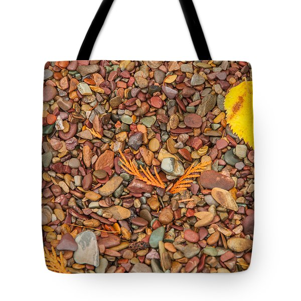 Beach Pebbles Of Montana Tote Bag