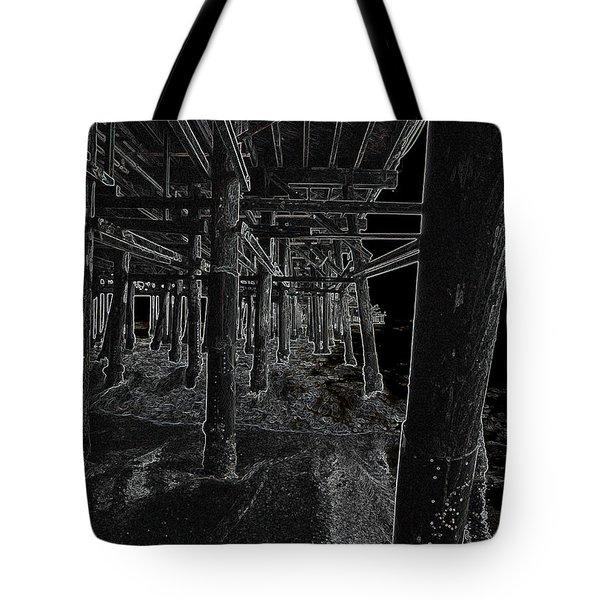 Beach Pier  Underworld  Tote Bag