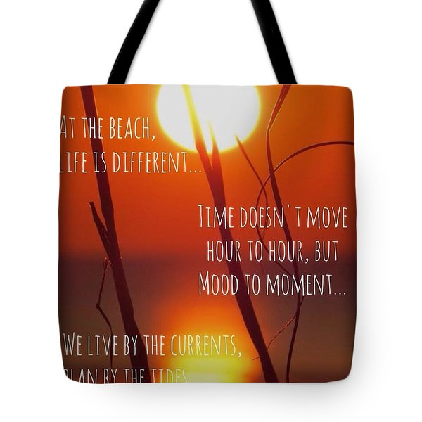 Tote Bag featuring the photograph Beach Quote by Nikki McInnes