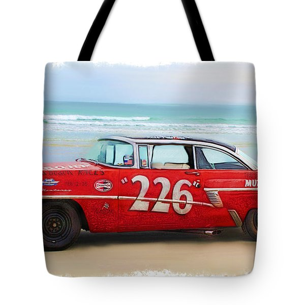 Beach Race Car 226 Tote Bag