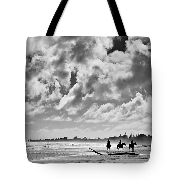 Beach Riders Tote Bag by Dave Bowman