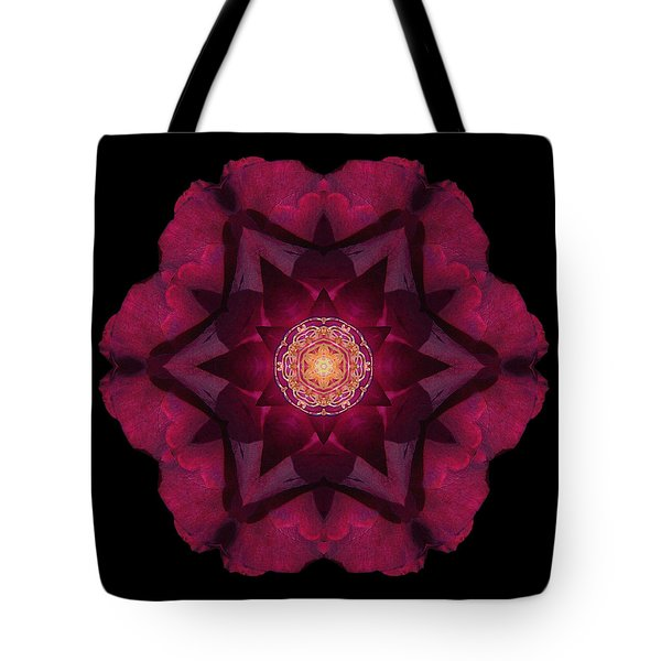 Beach Rose I Flower Mandala Tote Bag