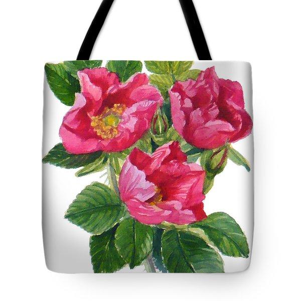 Beach Roses -  Rosa Rugosa Tote Bag by Janet  Zeh