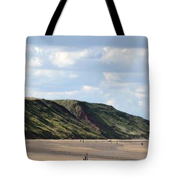 Beach - Saltburn Hills - Uk Tote Bag