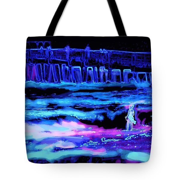 Beach Scene At Night Tote Bag