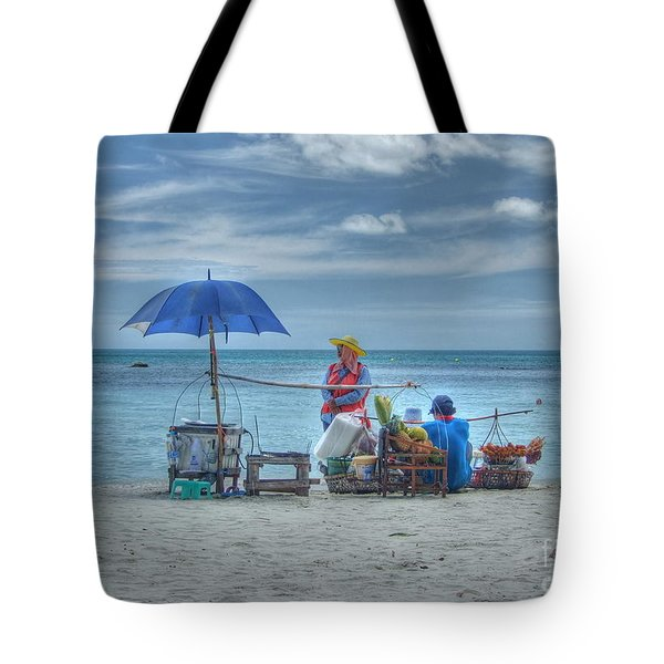 Beach Sellers Tote Bag by Michelle Meenawong