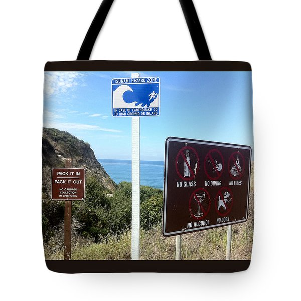 Beach Signs San Clemente Tote Bag