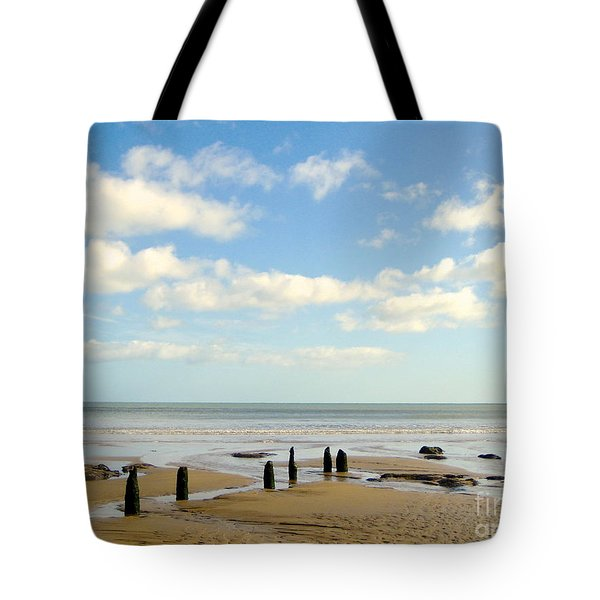 Beach Skies Tote Bag by Suzanne Oesterling