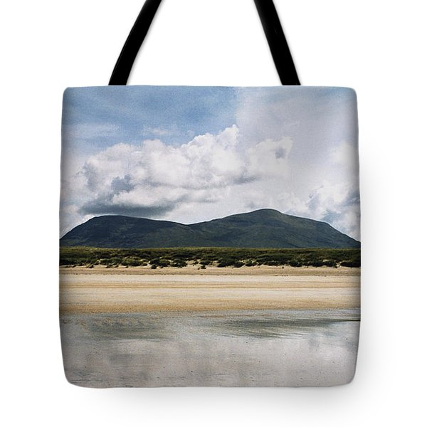 Beach Sky And Mountains Tote Bag
