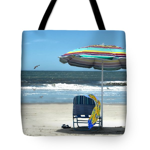 Beach Solitude Tote Bag by Sandi OReilly