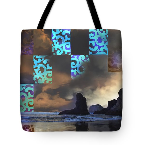 Beach Stamped Tote Bag by Adria Trail