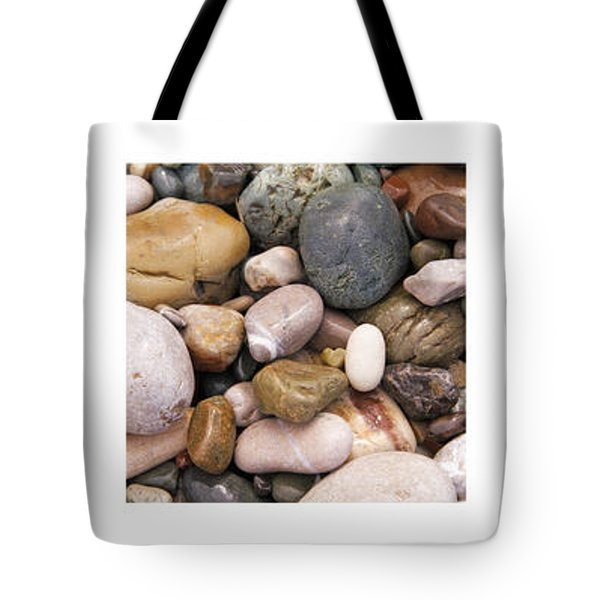 Beach Stones Triptych Tote Bag by Stelios Kleanthous